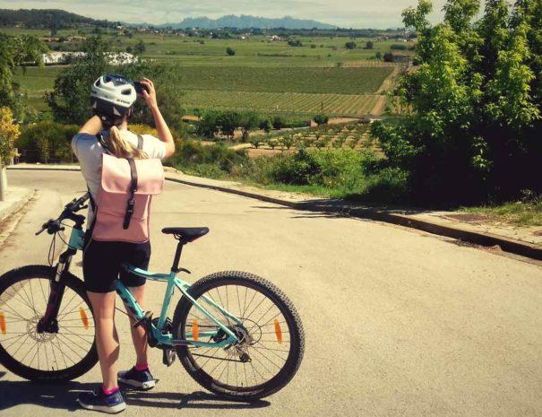 Wine and bike tour around Montserrat